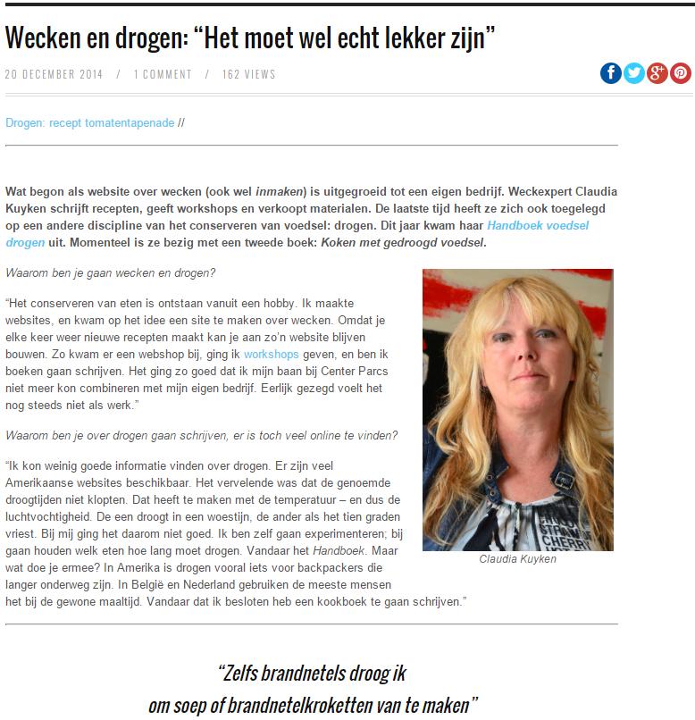 Interview Claudia Kuyken online blad toekomt