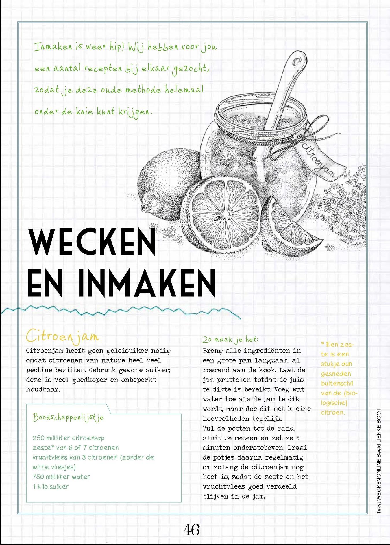 Recepten van WECKENonline in THUIS 2014